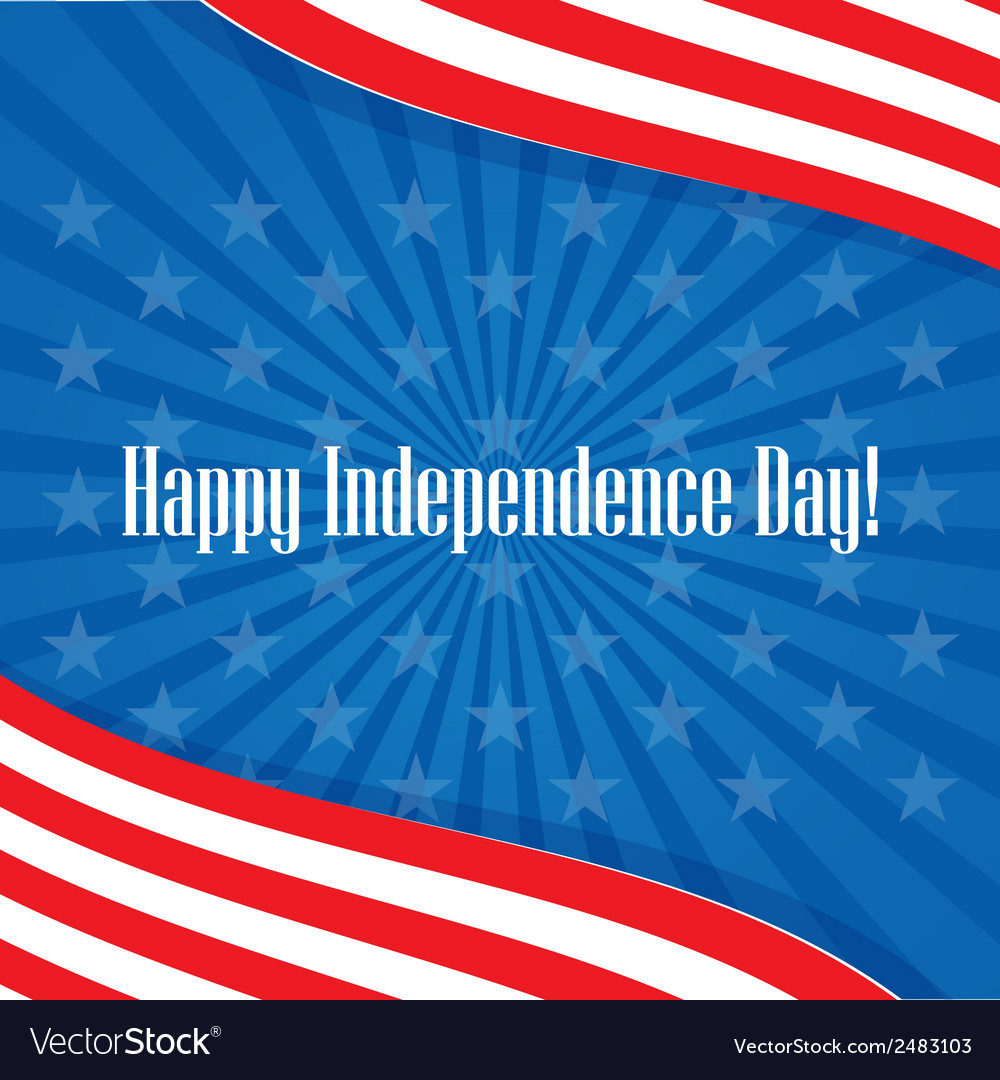 Happy independence day usa greeting card vector | Price: 1 Credit (USD $1)