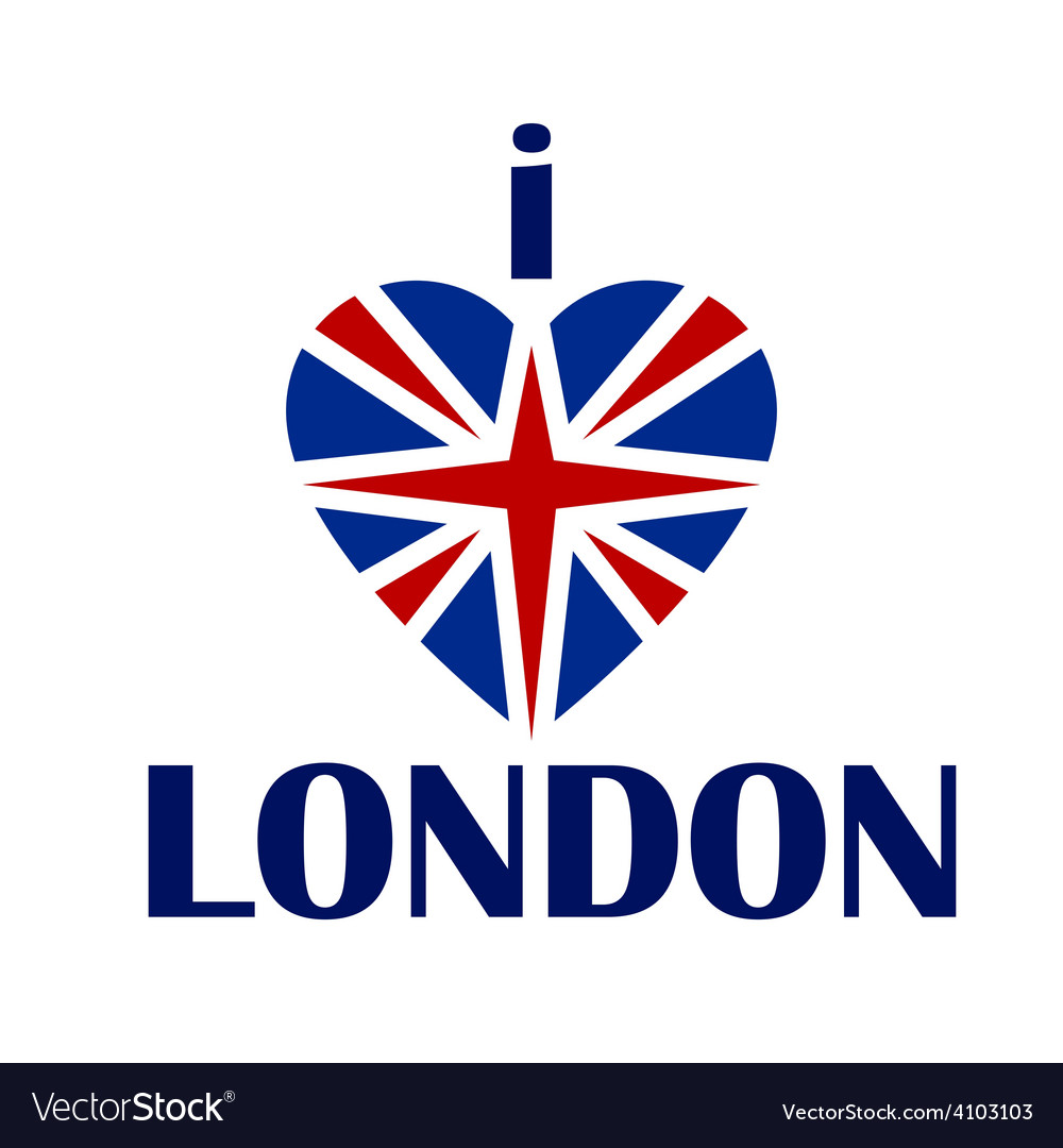 I love london t-shirt print tee typography vector | Price: 1 Credit (USD $1)