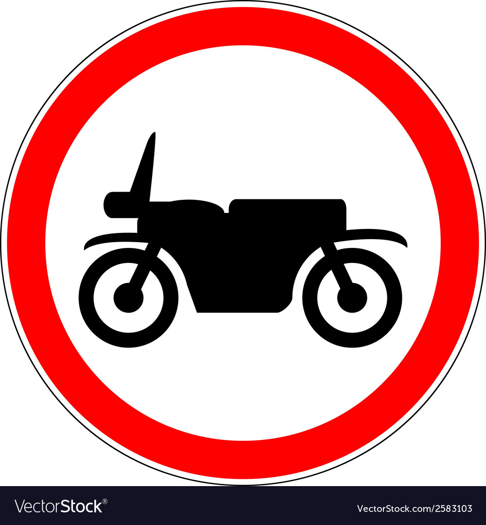 No motorcycle road sign vector | Price: 3 Credit (USD $3)