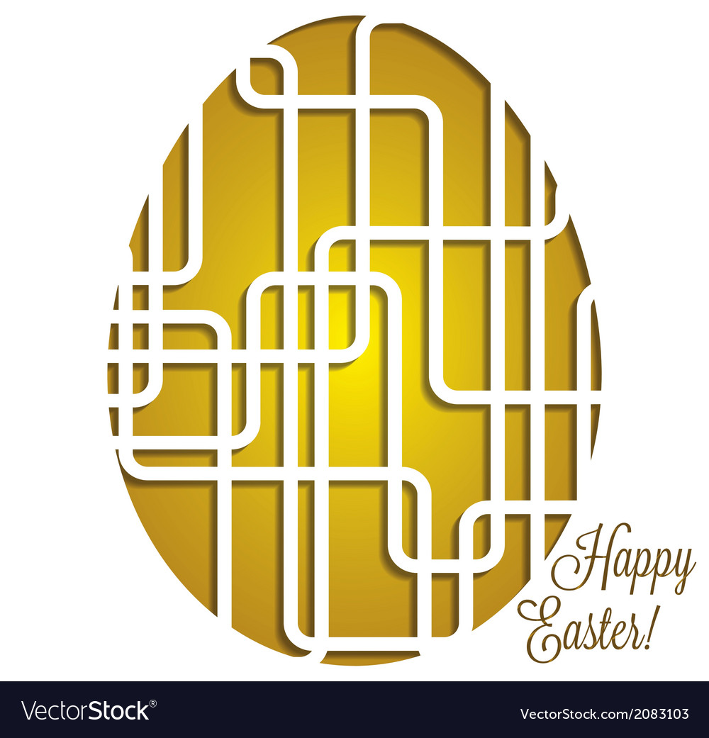 Paper cut out easter egg card in format vector   Price: 1 Credit (USD $1)