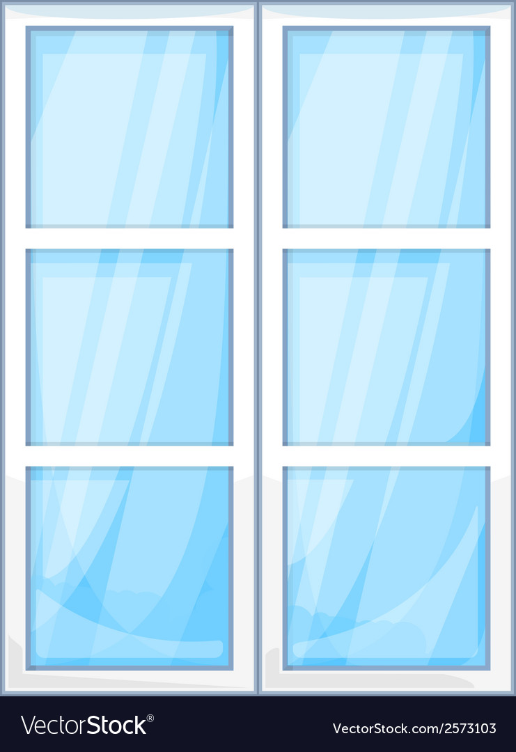 Plastic window outside vector | Price: 1 Credit (USD $1)