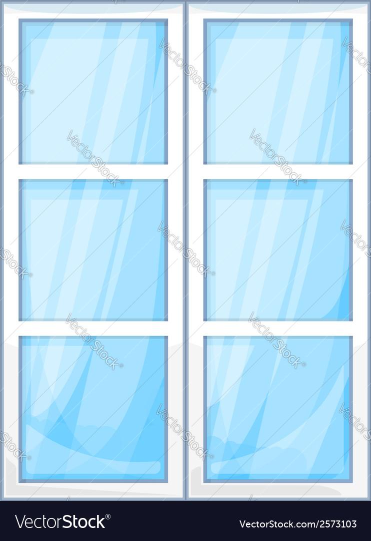 Plastic window outside vector | Price: 1 Credit (USD $1)