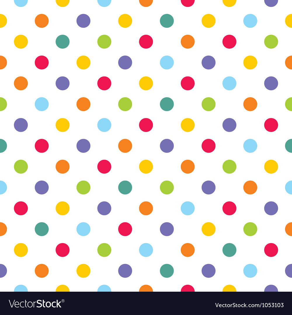 Seamless pattern texture with corolful polka dots vector | Price: 1 Credit (USD $1)