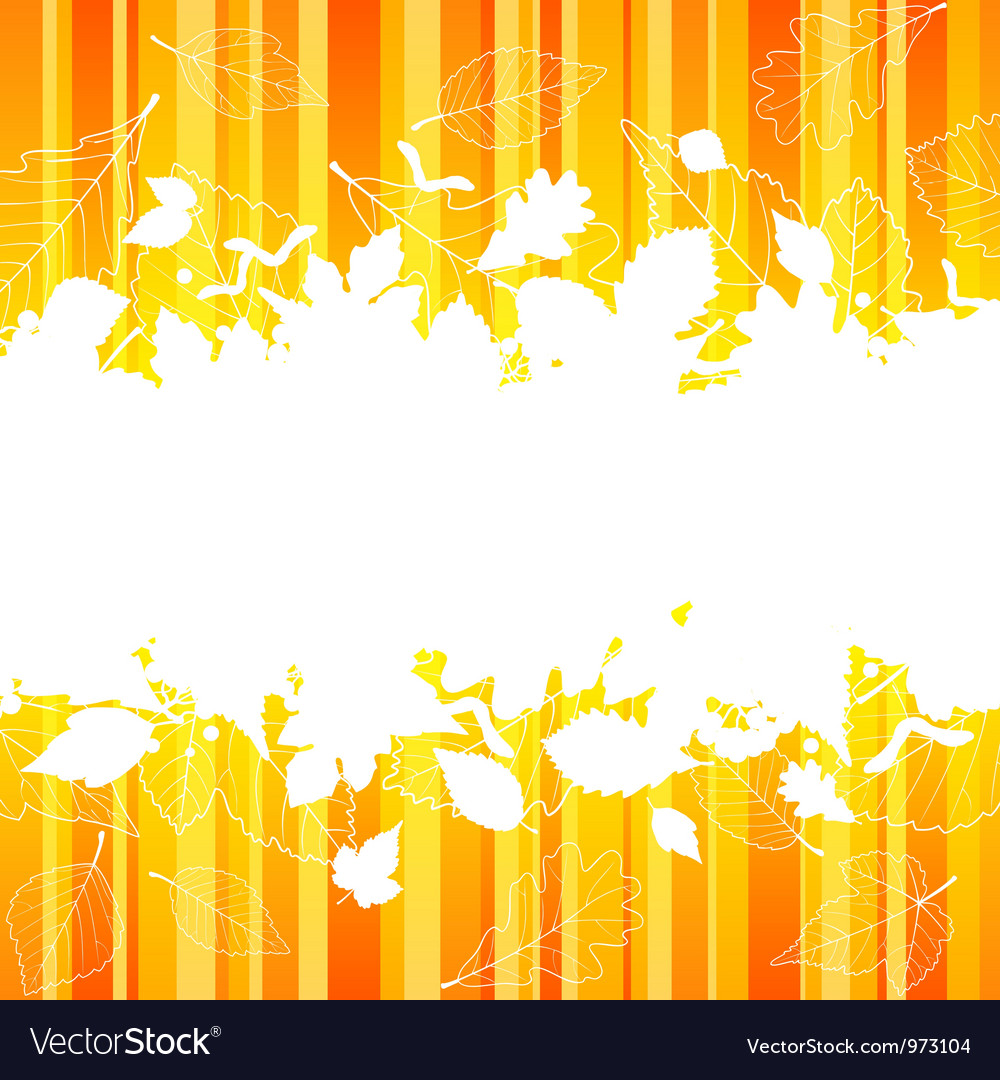 Autumn frame with fall leaf vector | Price: 1 Credit (USD $1)
