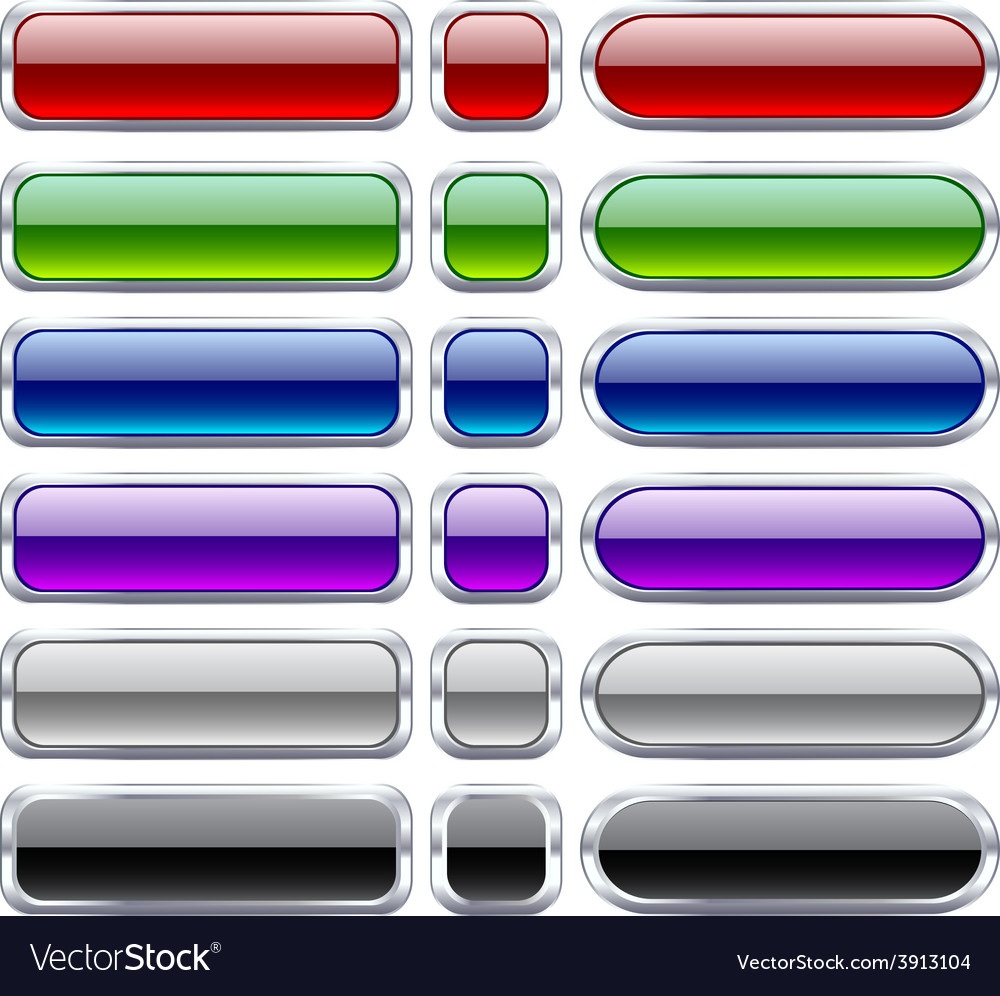 Bar blank buttons vector | Price: 1 Credit (USD $1)
