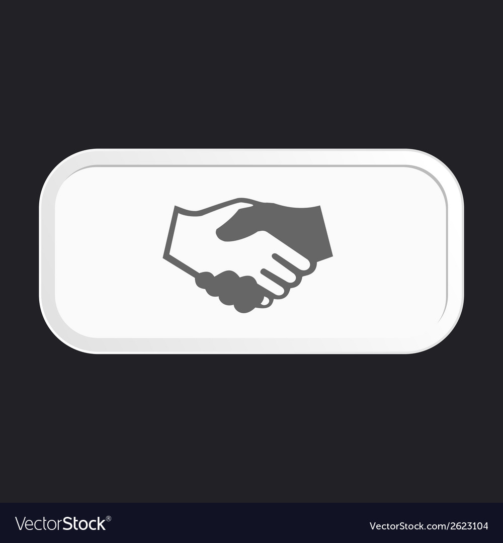 Black icon handshake vector | Price: 1 Credit (USD $1)
