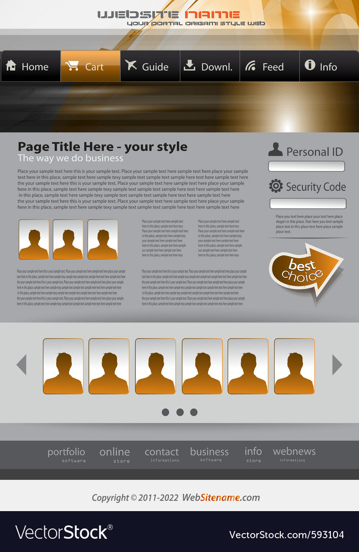 Business website vector | Price: 3 Credit (USD $3)