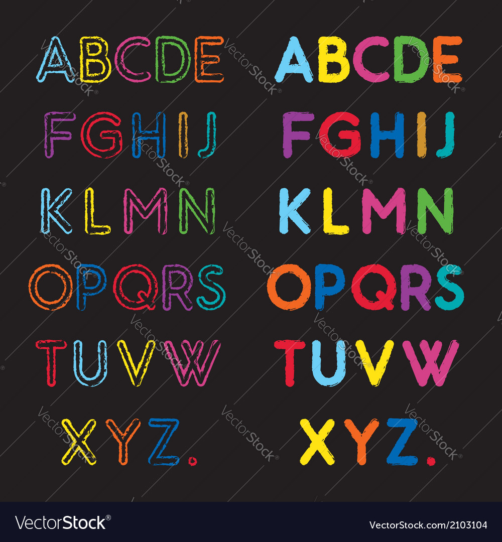 Capital letters a to z vector | Price: 1 Credit (USD $1)