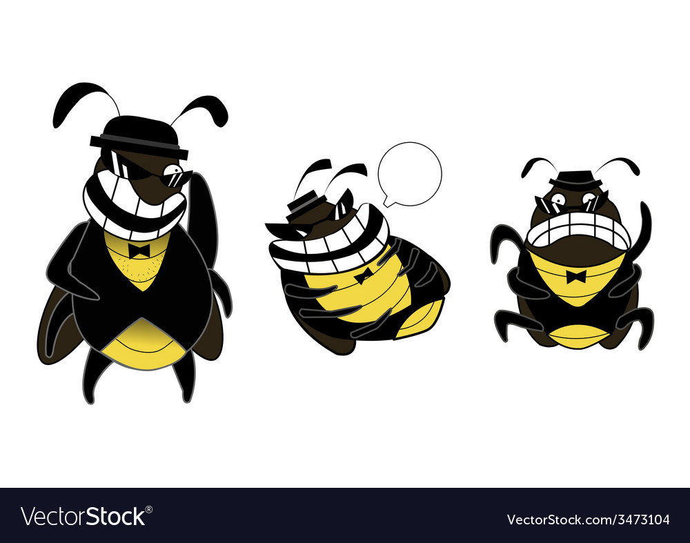 Cockroach gang cartoon vector | Price: 1 Credit (USD $1)