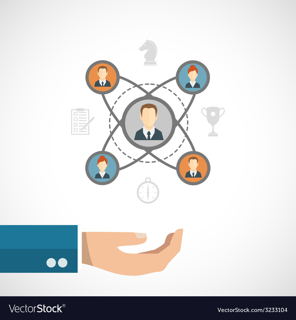 Connected people concept vector | Price: 1 Credit (USD $1)