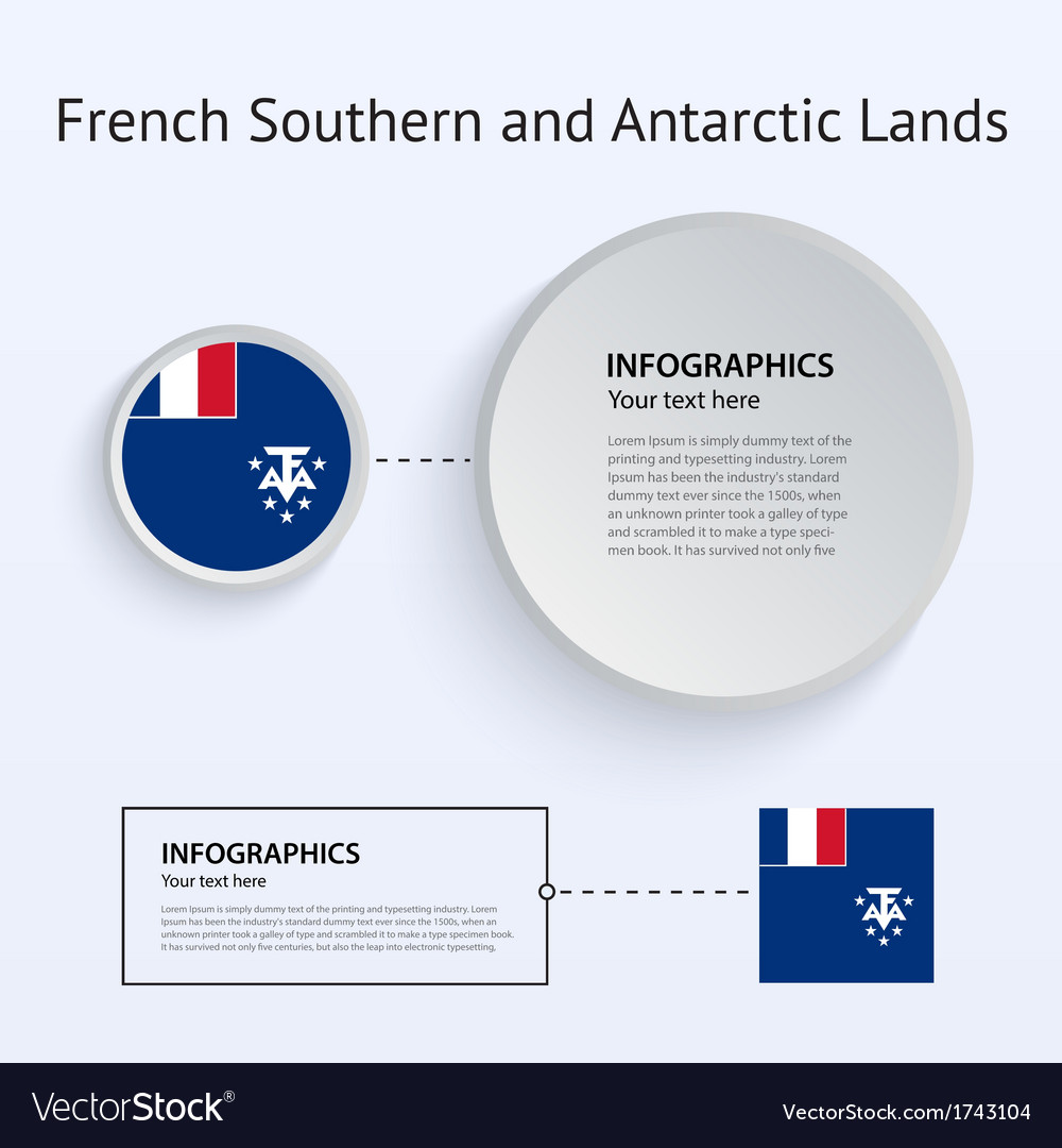 French southern and antarctic lands country set of vector | Price: 1 Credit (USD $1)