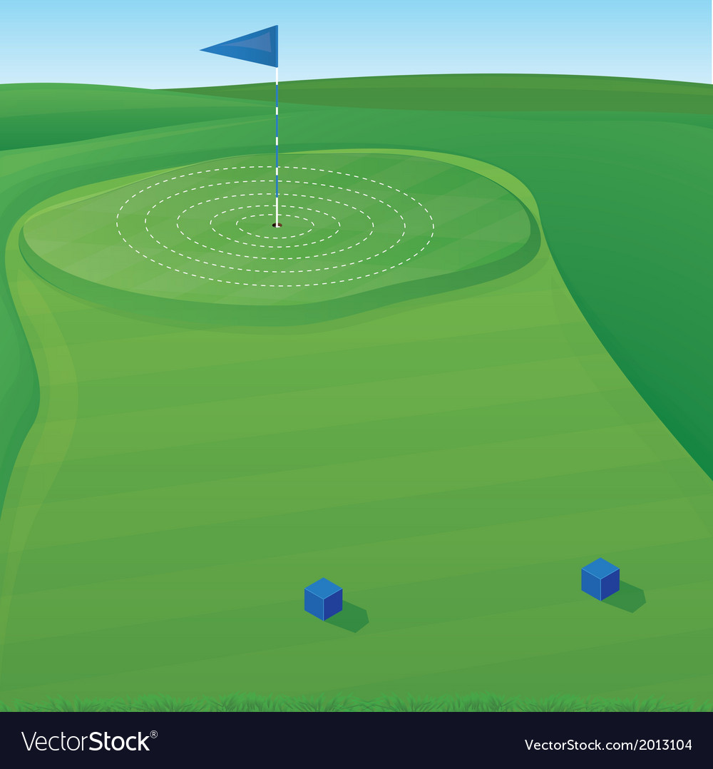 Golf target vector | Price: 1 Credit (USD $1)