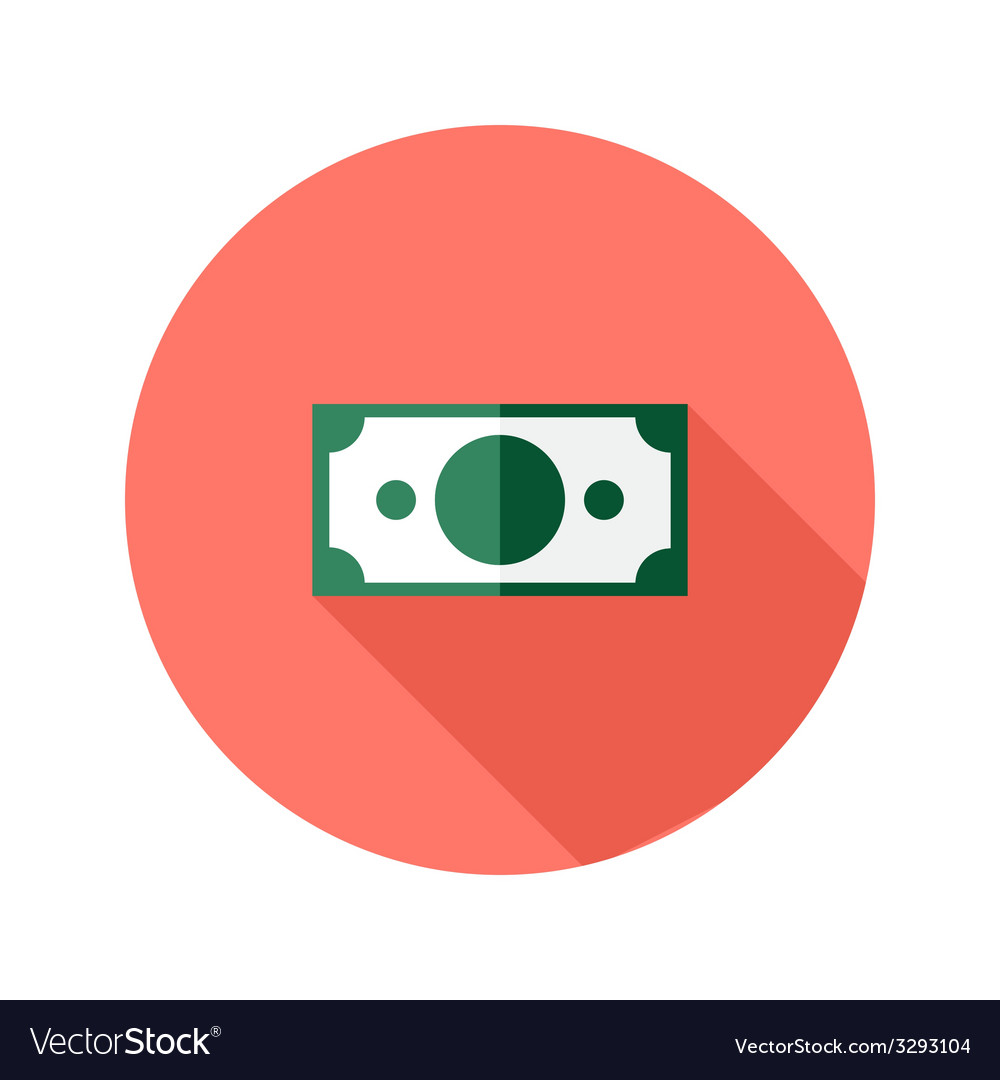 Money banknote circle flat icon vector   Price: 1 Credit (USD $1)