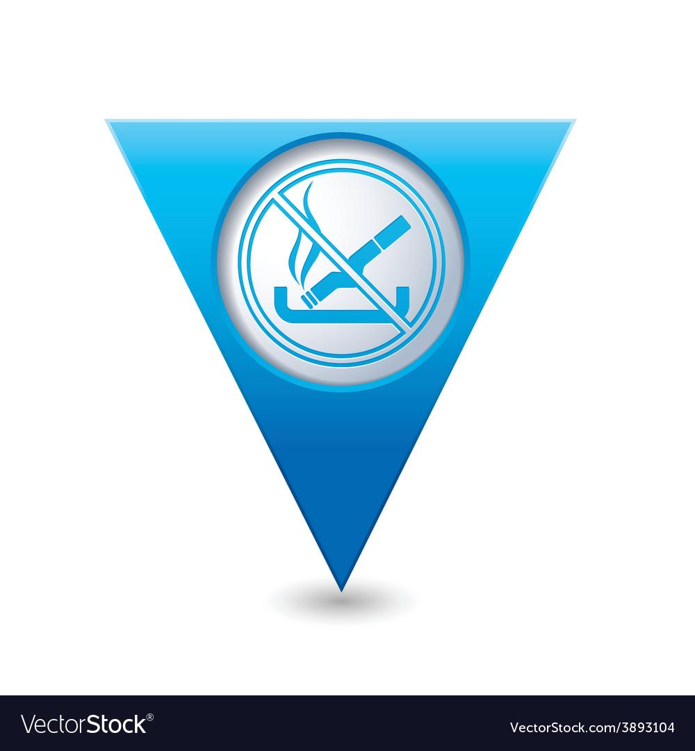 No smoking blue triangular map pointer vector   Price: 1 Credit (USD $1)