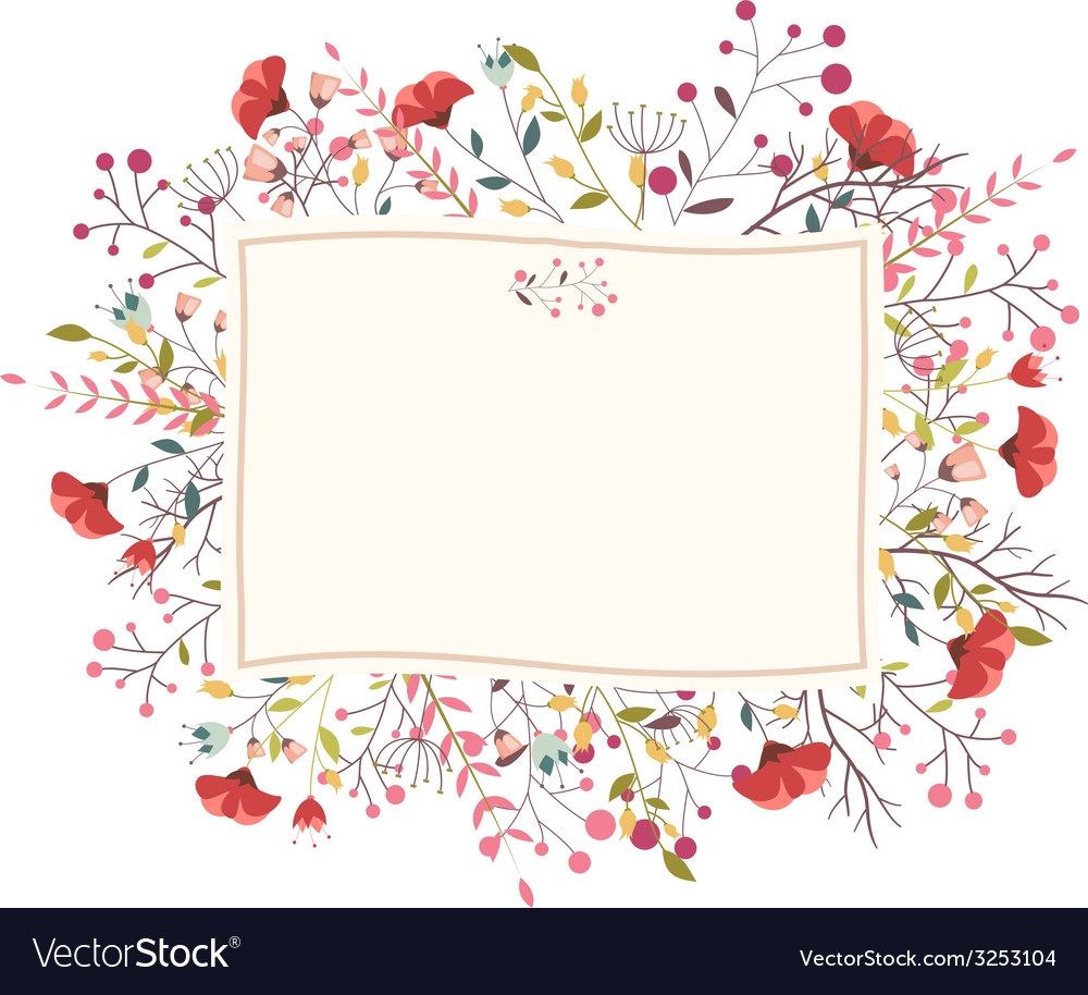 Retro flower for wedding invitation vector | Price: 1 Credit (USD $1)