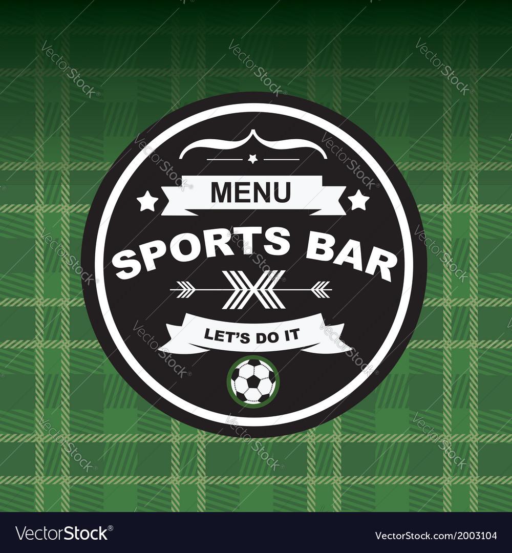 Sports bar menu template design vector | Price: 1 Credit (USD $1)