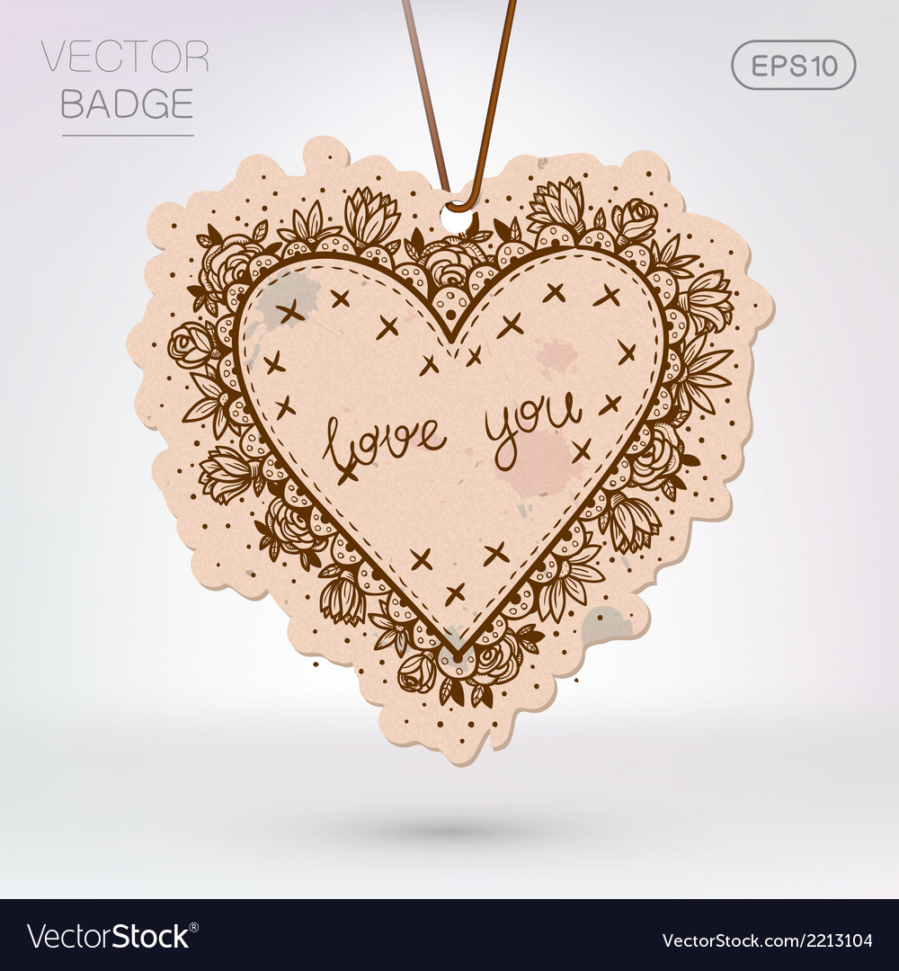 Vintage styled frame with love confession vector | Price: 1 Credit (USD $1)