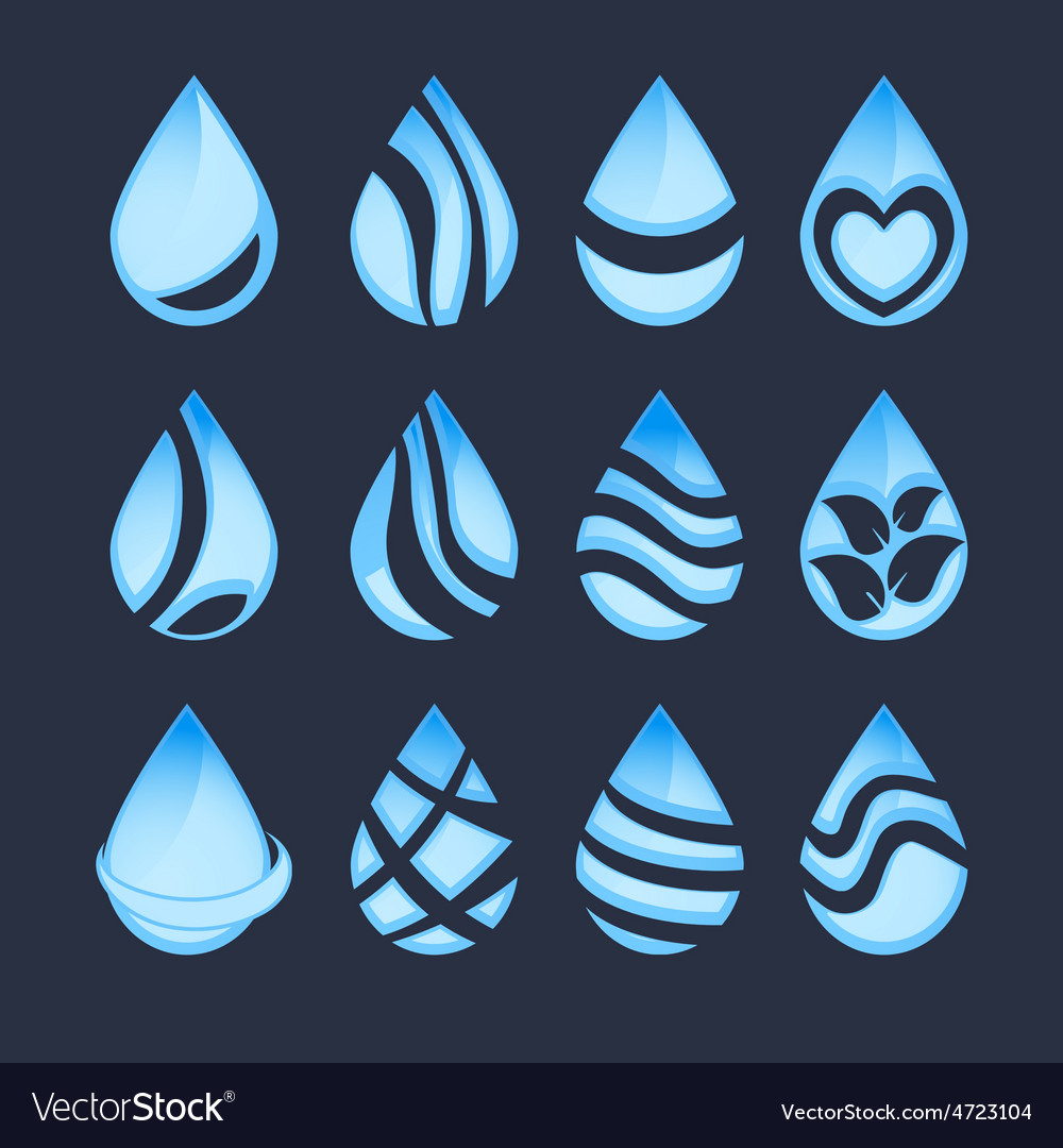 Water drop symbols vector | Price: 1 Credit (USD $1)