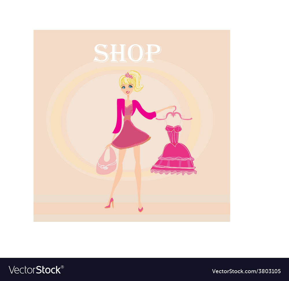 Beautiful women shopping vector | Price: 1 Credit (USD $1)