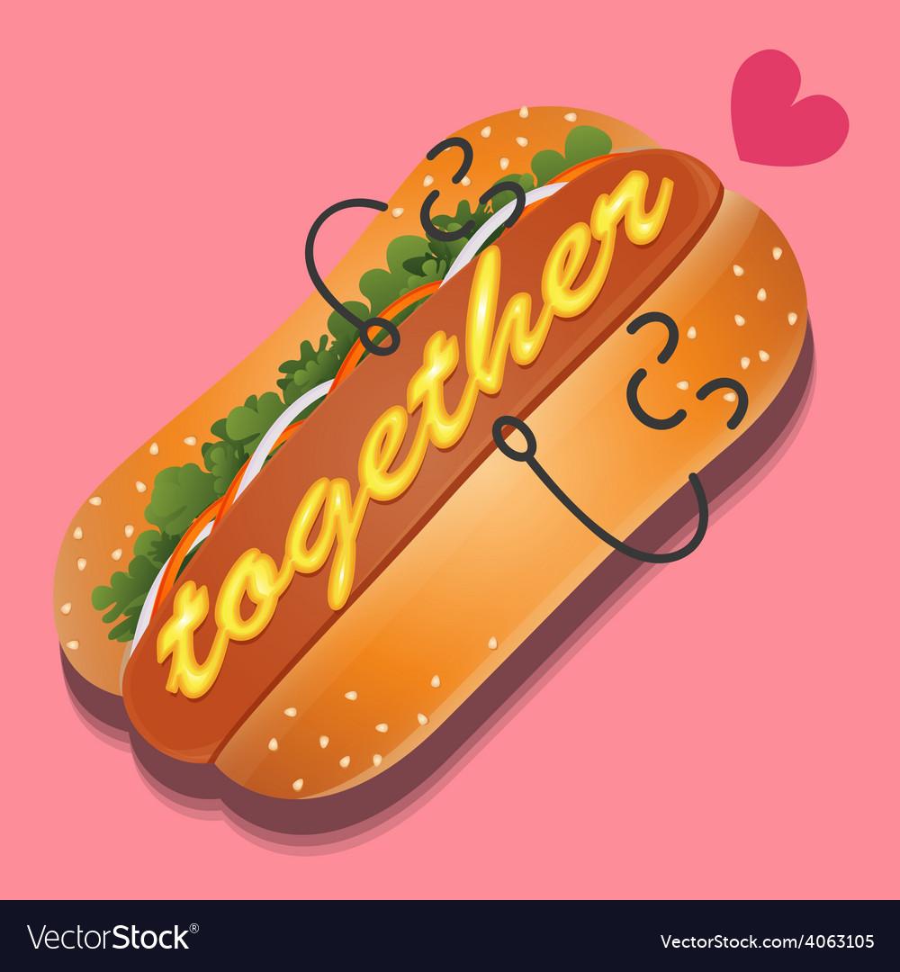 Hotdog vector | Price: 1 Credit (USD $1)