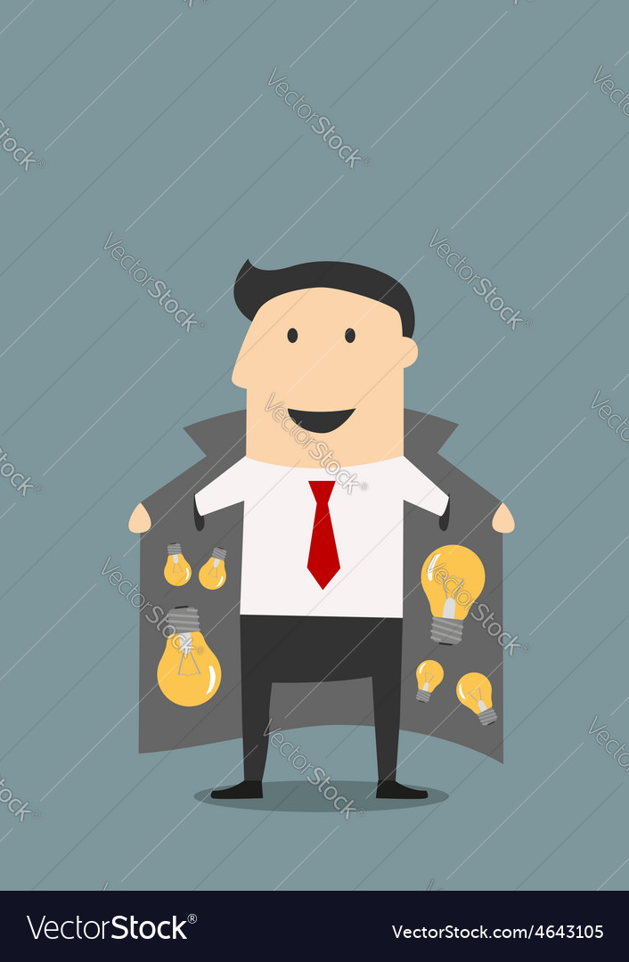 Innovative businessman in jacket selling ideas vector | Price: 1 Credit (USD $1)