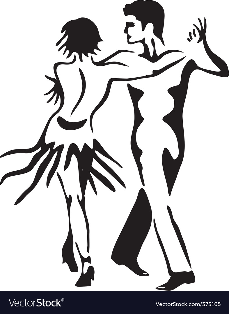 Latin dance rumba dancing couple vector | Price: 1 Credit (USD $1)