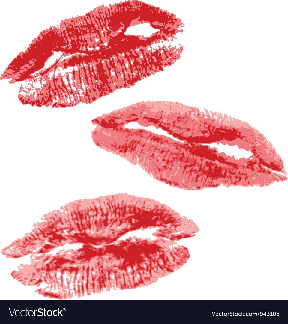 Lips imprint vector | Price: 1 Credit (USD $1)