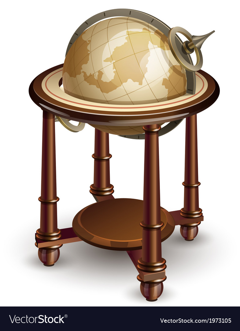 Old globe vector | Price: 3 Credit (USD $3)
