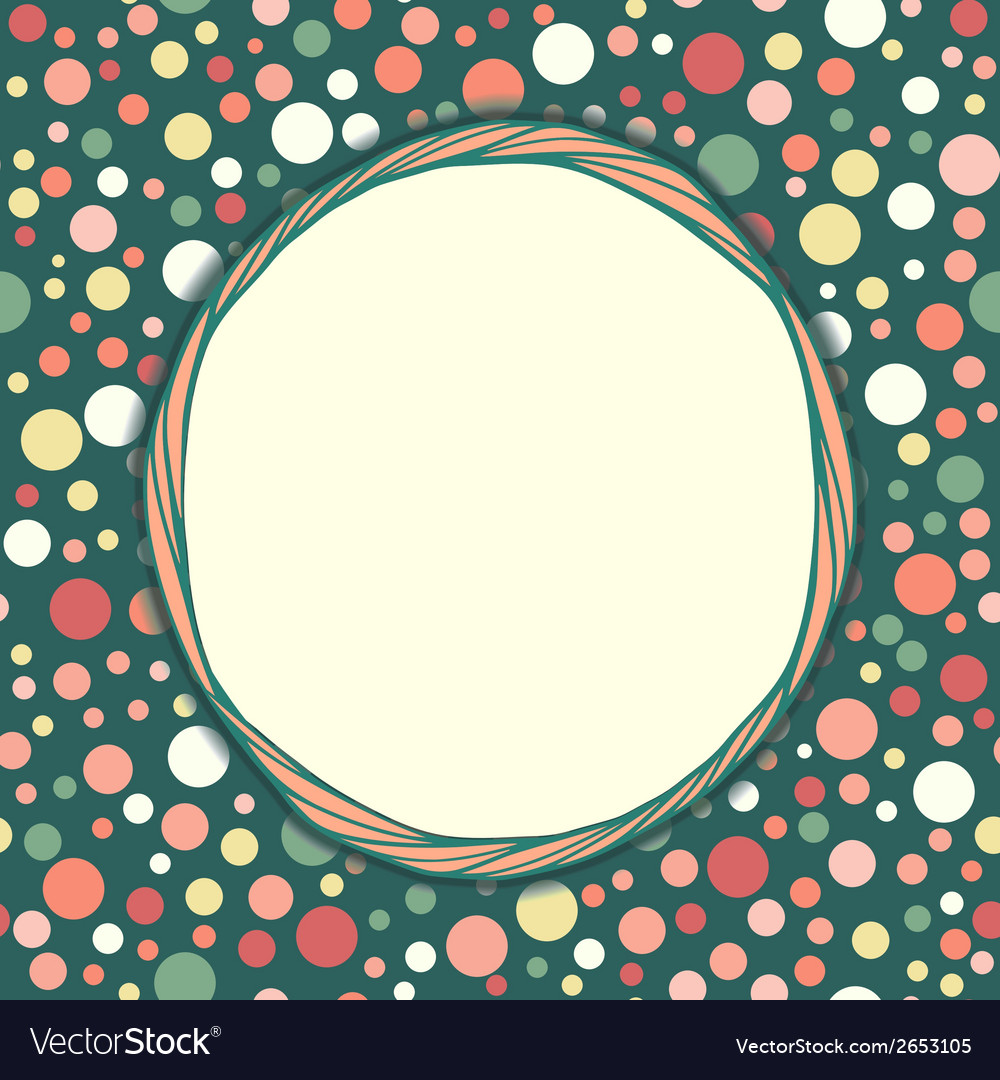 Stylish vintage polka dot texture seamless pattern vector | Price: 1 Credit (USD $1)
