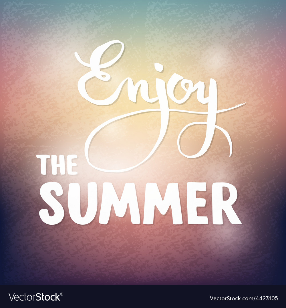 Summer calligraphic design element for poster or vector | Price: 1 Credit (USD $1)