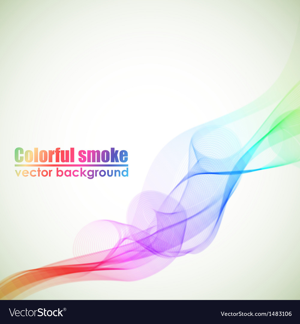 Abstract colorful smoke background with copy space vector | Price: 1 Credit (USD $1)