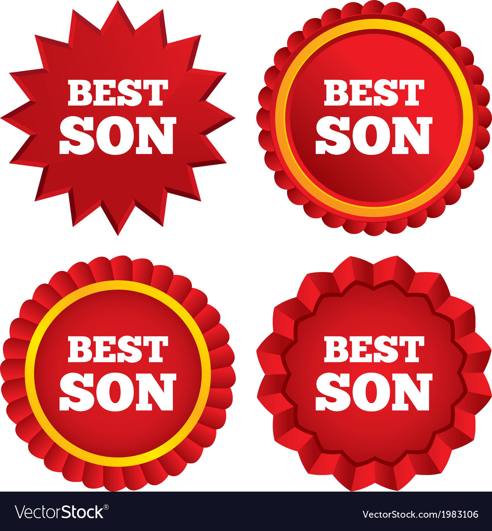 Best son sign icon award symbol vector | Price: 1 Credit (USD $1)