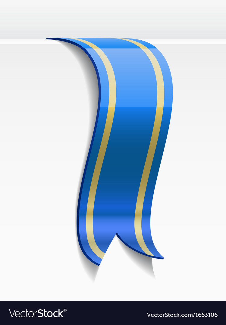 Blue bookmark decoration ribbon vector | Price: 1 Credit (USD $1)