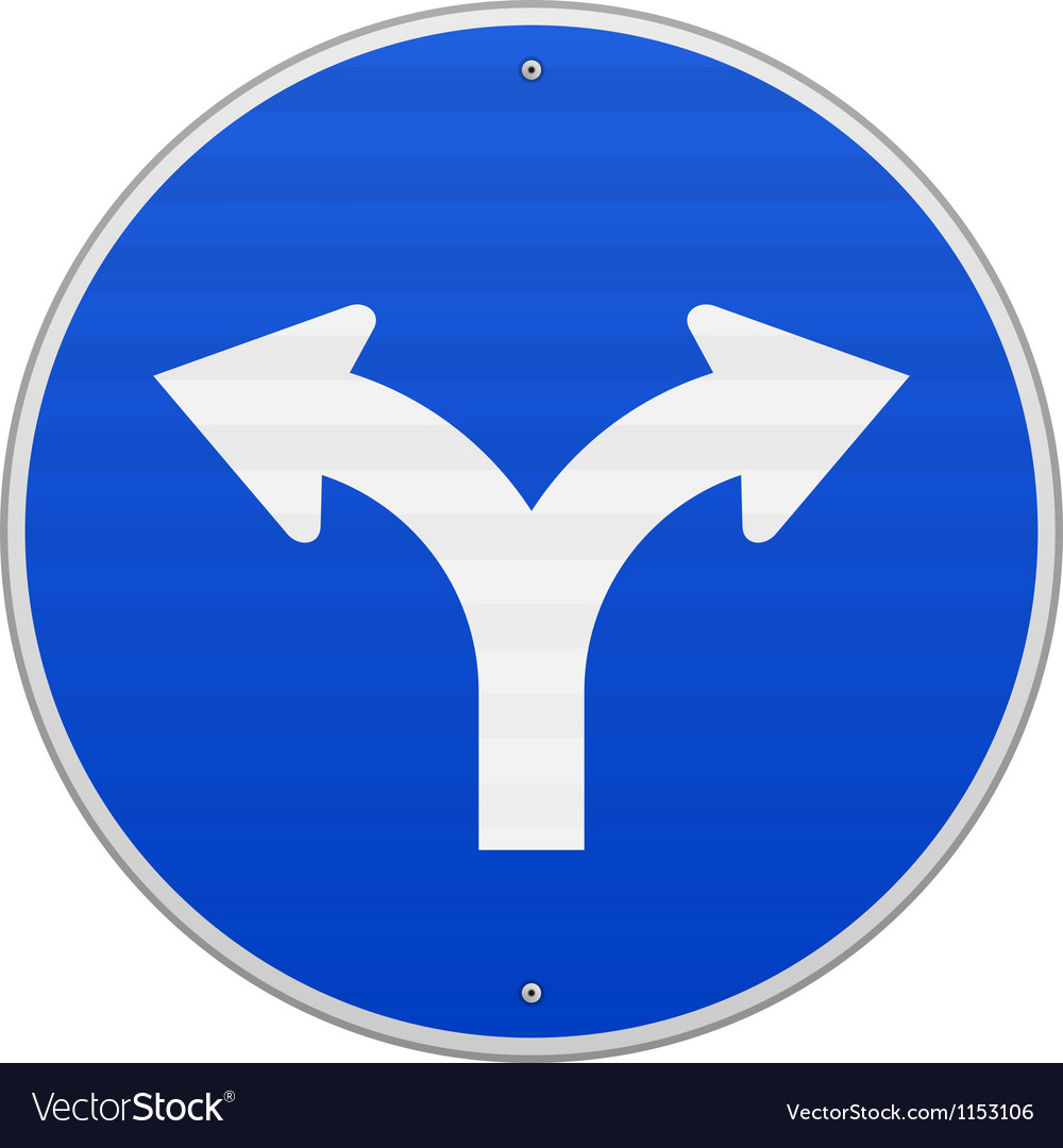 Blue sign with two arrows vector | Price: 1 Credit (USD $1)