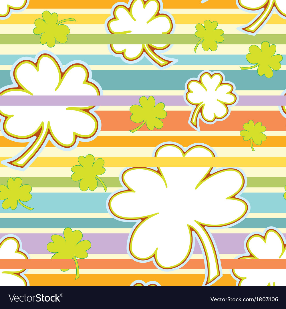Clover and rainbow seamless pattern vector | Price: 1 Credit (USD $1)