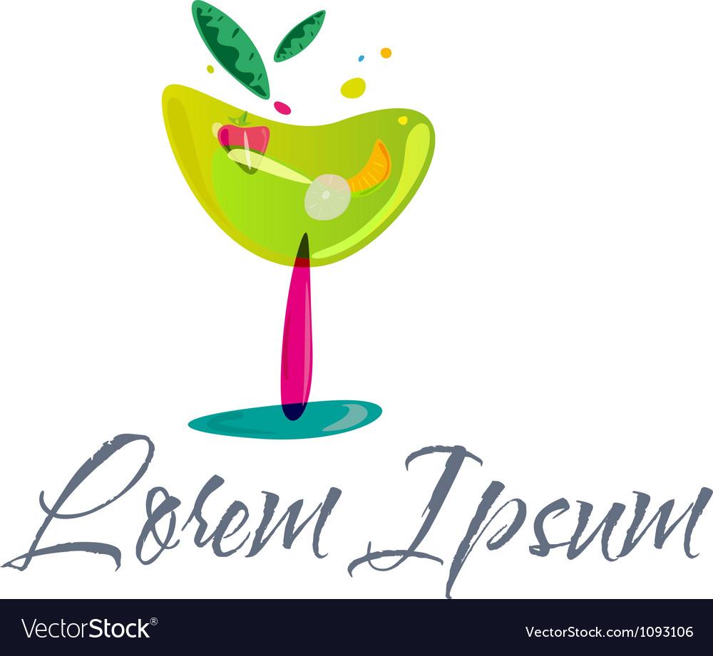 Cocktail logo vector | Price: 1 Credit (USD $1)