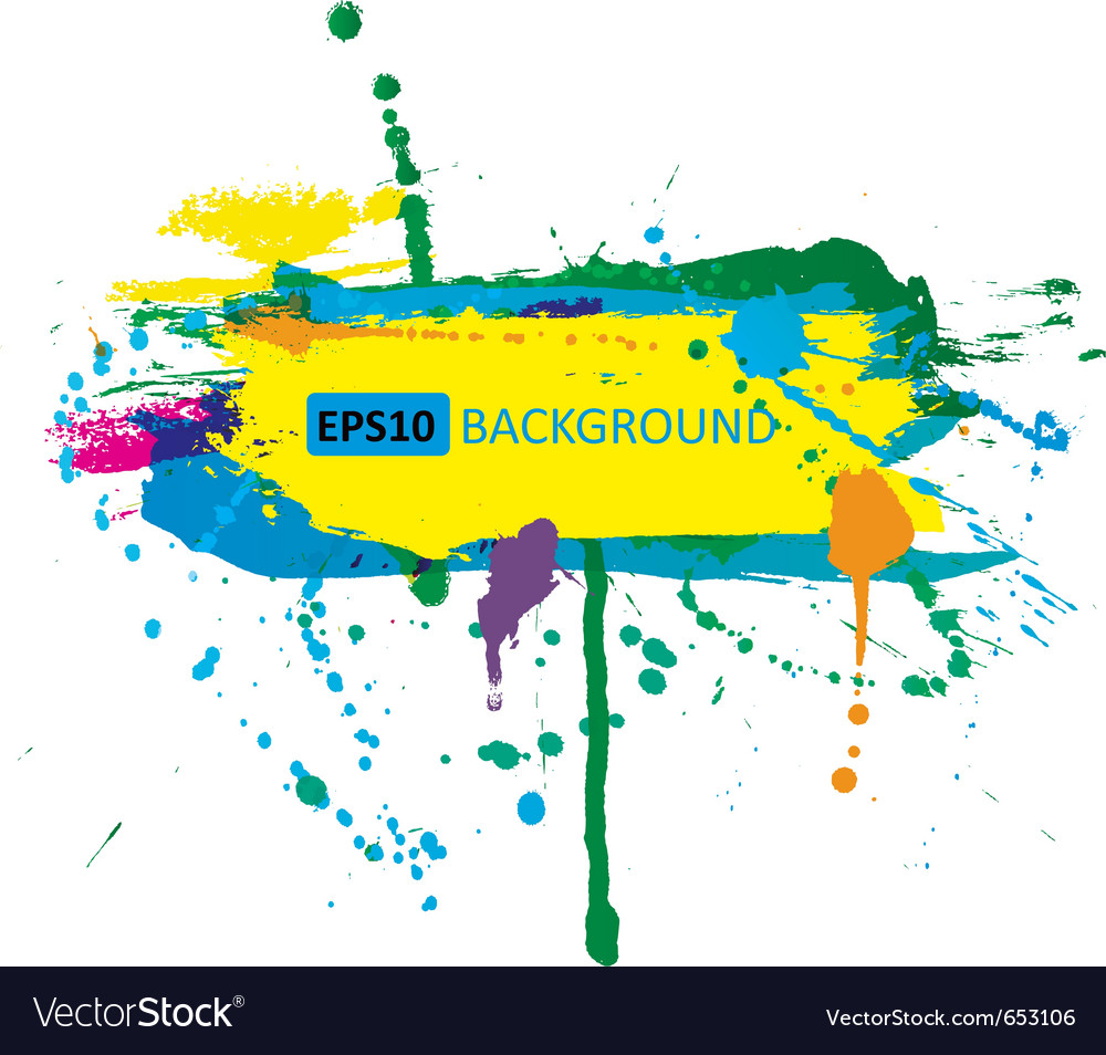Colorful grunge banner with ink splashes vector | Price: 1 Credit (USD $1)