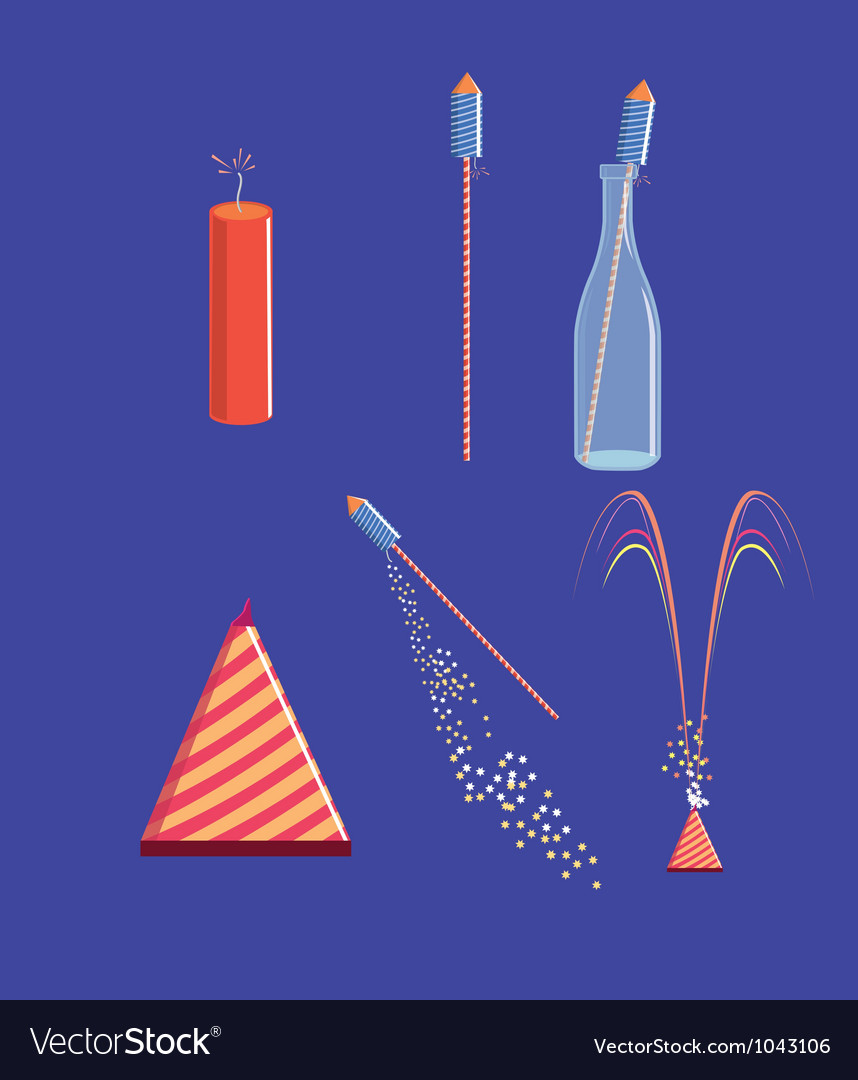 Fire crackers vector | Price: 1 Credit (USD $1)