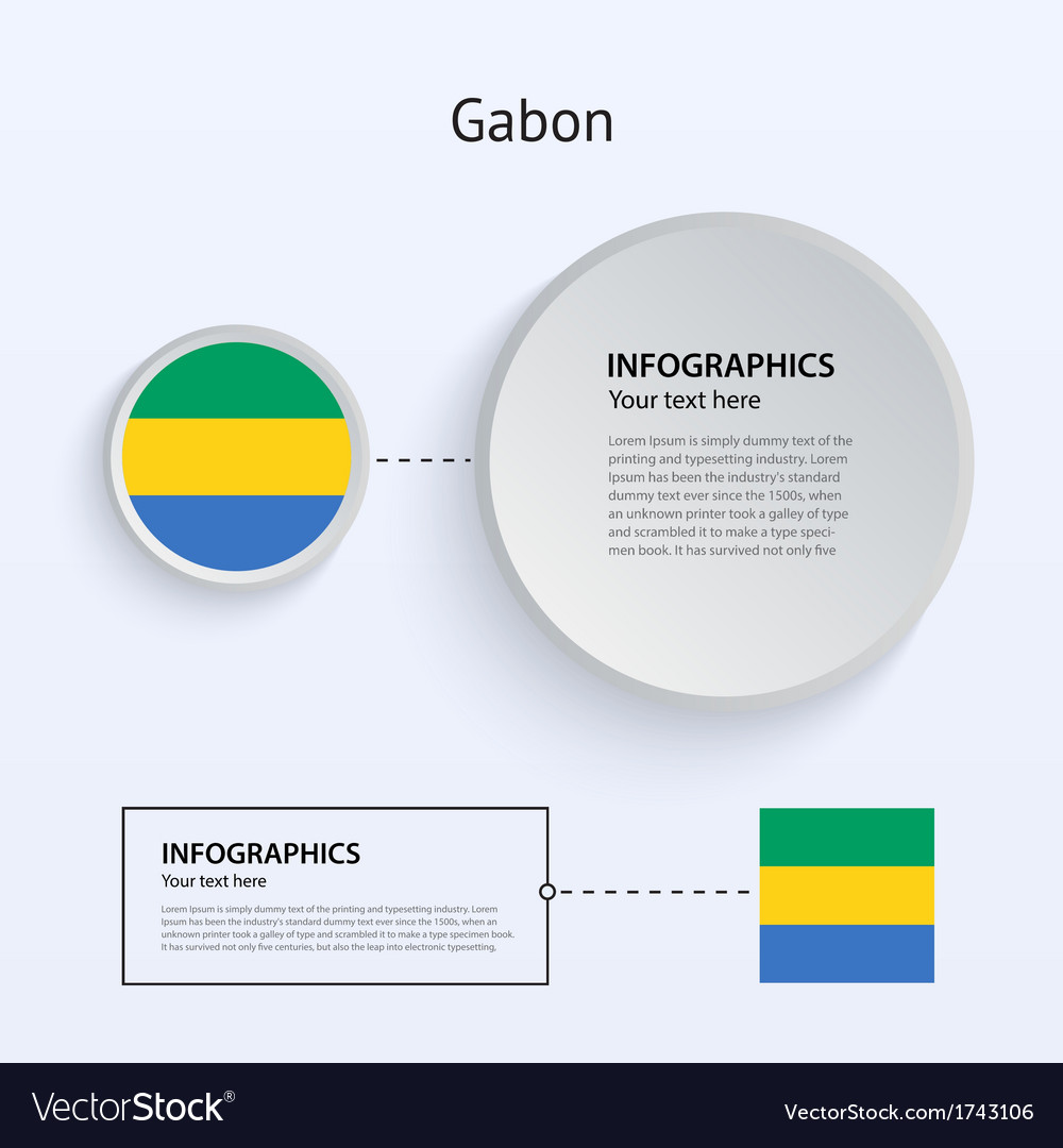 Gabon country set of banners vector | Price: 1 Credit (USD $1)