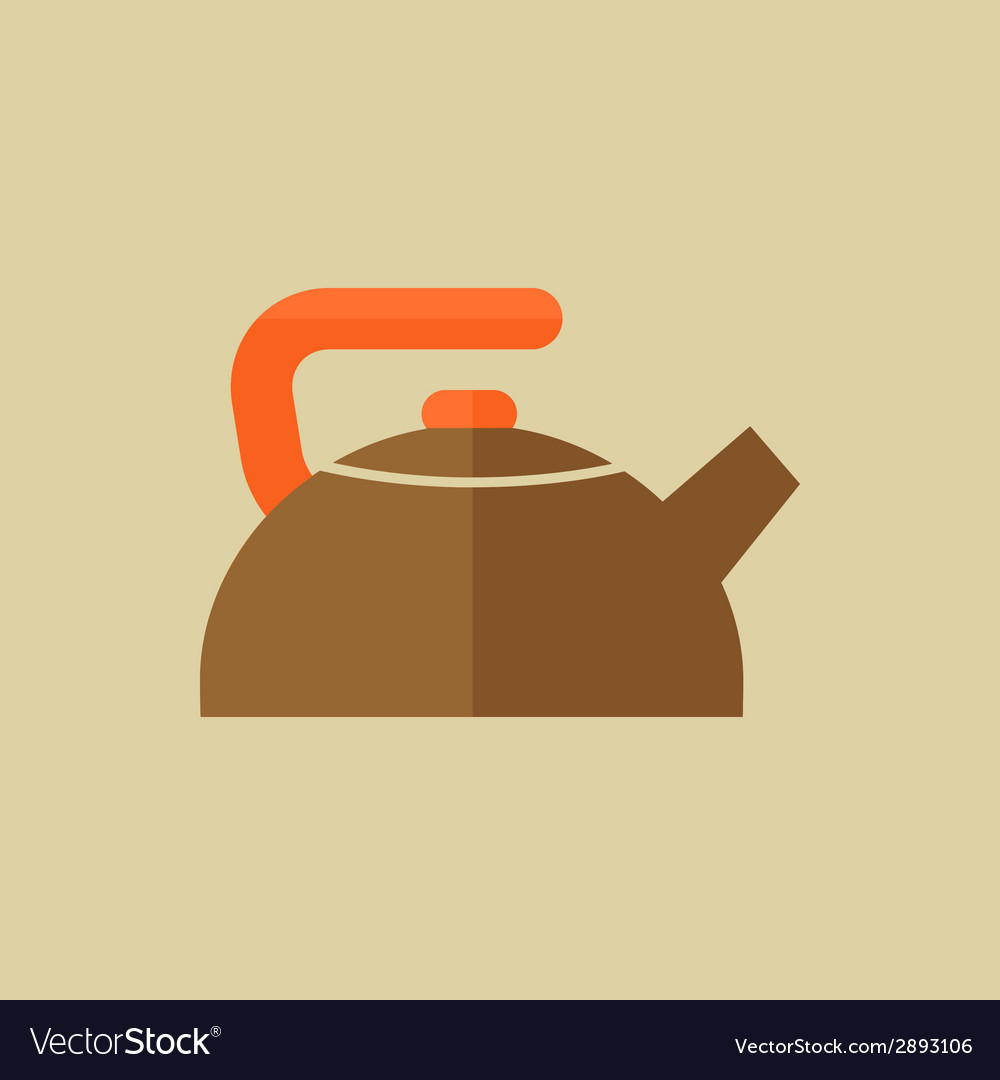 Kettle food flat icon vector | Price: 1 Credit (USD $1)