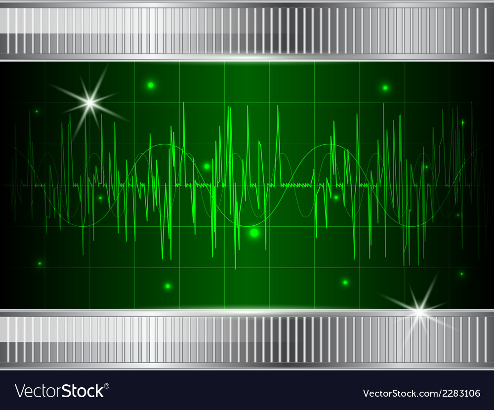 Oscilloscope background vector | Price: 1 Credit (USD $1)