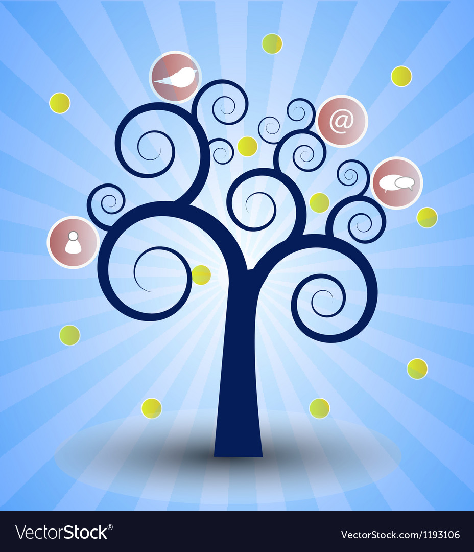 The social network tree vector | Price: 1 Credit (USD $1)