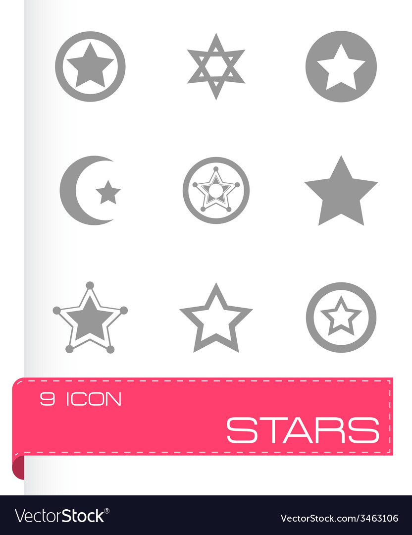 Stars icon set vector | Price: 1 Credit (USD $1)