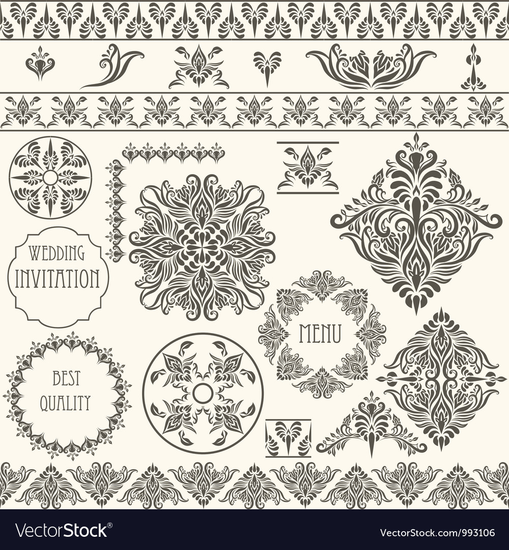 Vintage design elements retro vector | Price: 1 Credit (USD $1)