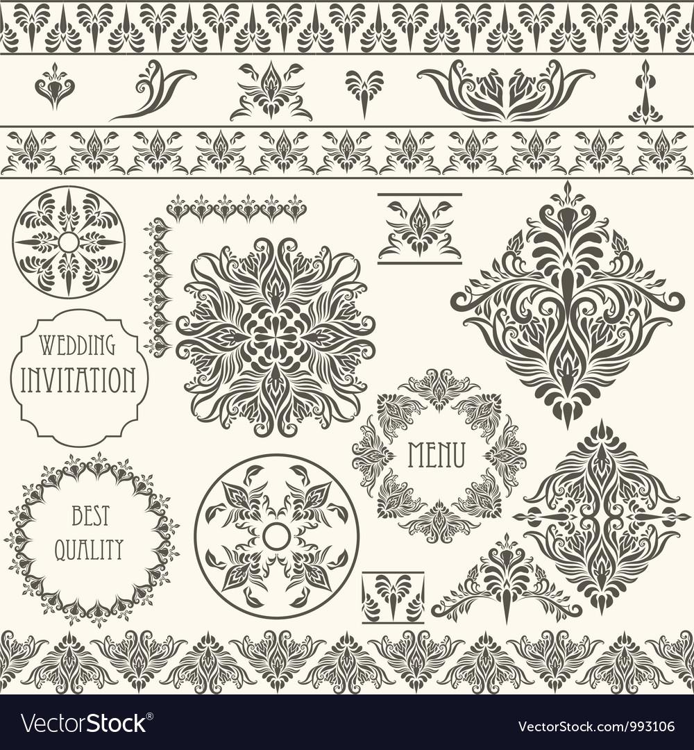 Vintage design elements retro vector | Price: 1 Credit (USD $1)