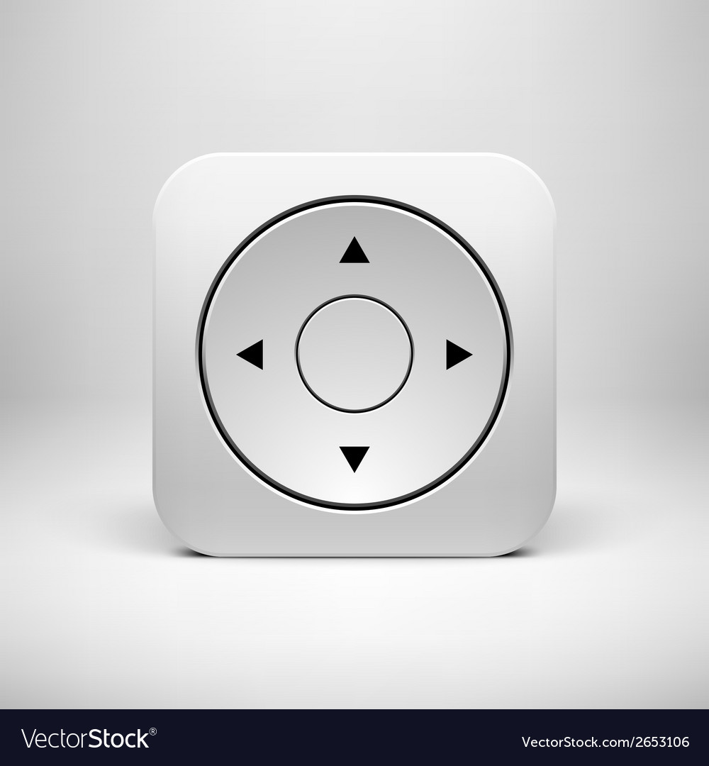 White abstract joystick app icon button template vector | Price: 1 Credit (USD $1)