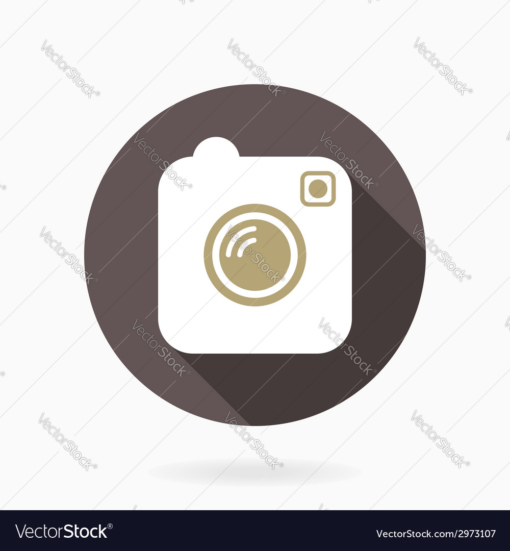 Camera icon with flat design vector | Price: 1 Credit (USD $1)