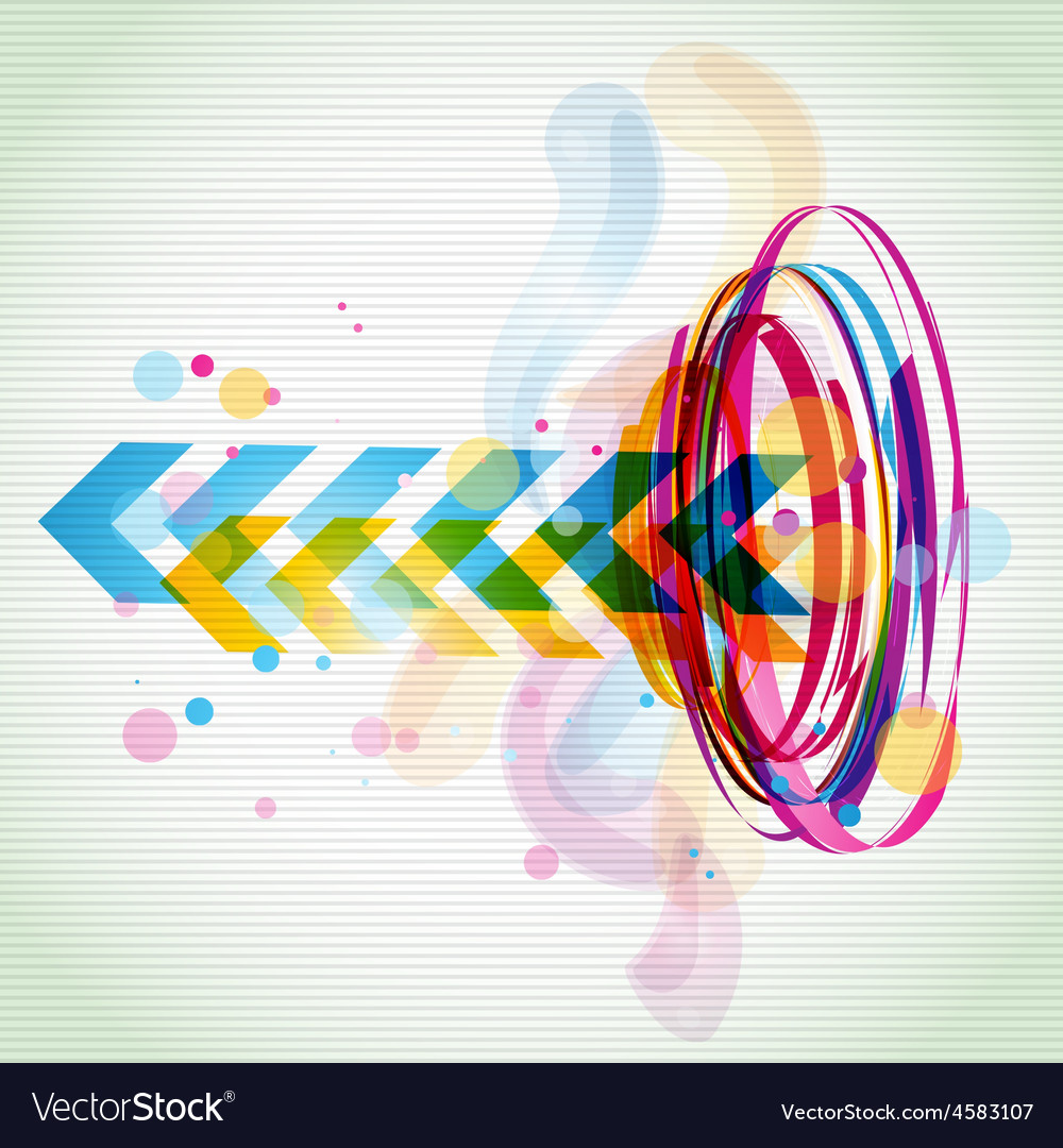 Funky style colorful design vector | Price: 1 Credit (USD $1)