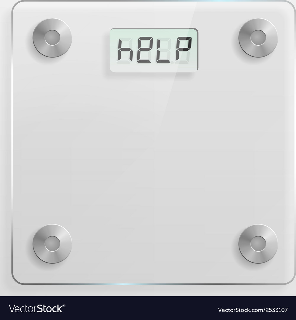 Glass bathroom scale vector | Price: 1 Credit (USD $1)