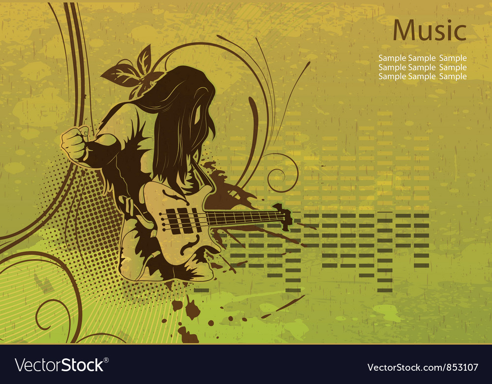 Grunge concert poster vector | Price: 1 Credit (USD $1)